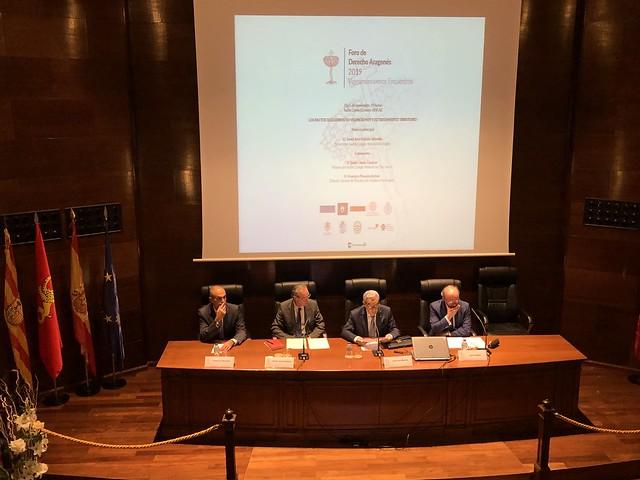 Foro de Derecho Aragonés 2019 Primera sesión