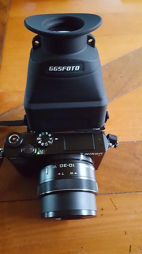 Nikon 1 J5 met GGS viewfinder (2)