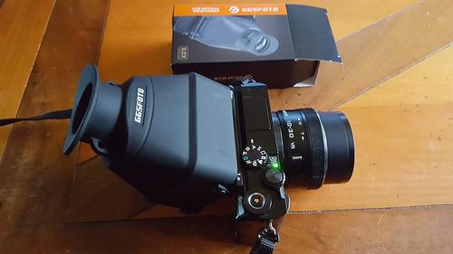 Nikon 1 J5 met GGS viewfinder (1)
