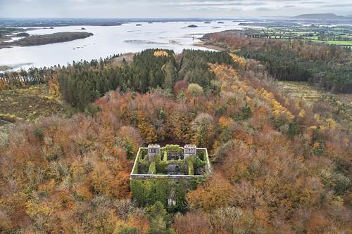 Autumn Ruin. Moore Hall, County Mayo, Ireland.