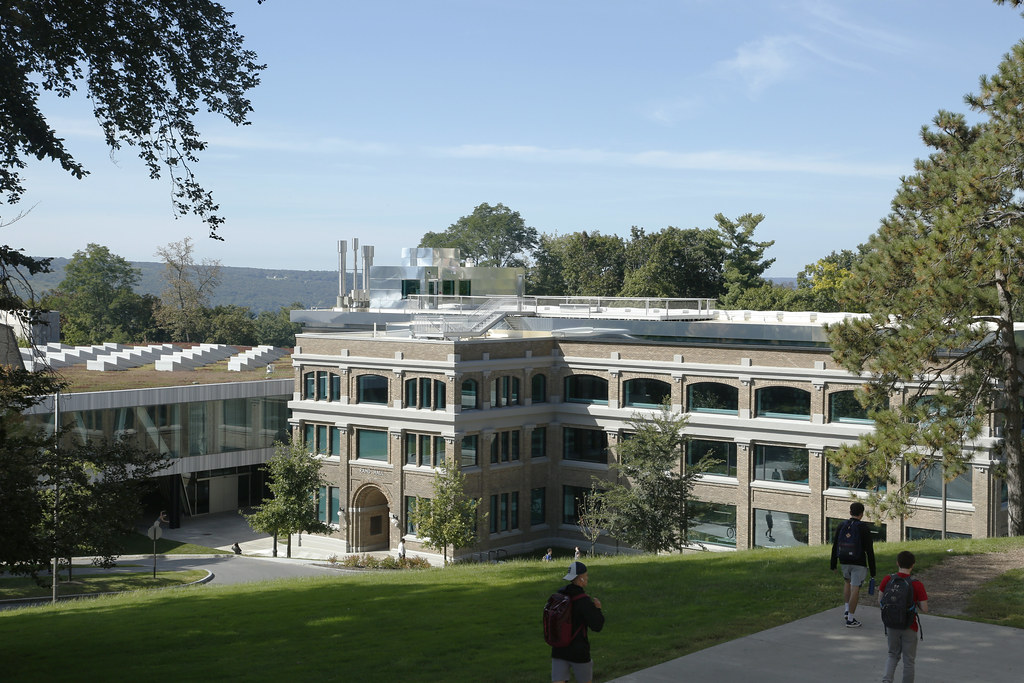 A view of Rand Hall, home of the Mui Ho Fine Arts Library.