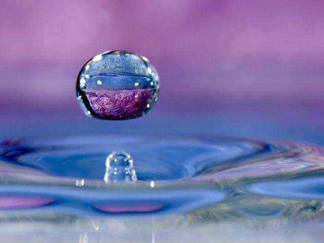 Transparence dans la goutte d'eau