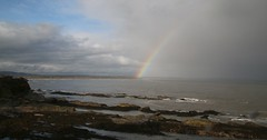 Rainbow over the Tay Estuary, from St Andrews.