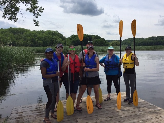Lab kayaking trip with our PREP student Seble Negatu