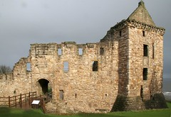 St Andrews Castle, New entrance and old gatehouse tower