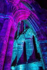Whitby Abbey Illuminated Arches