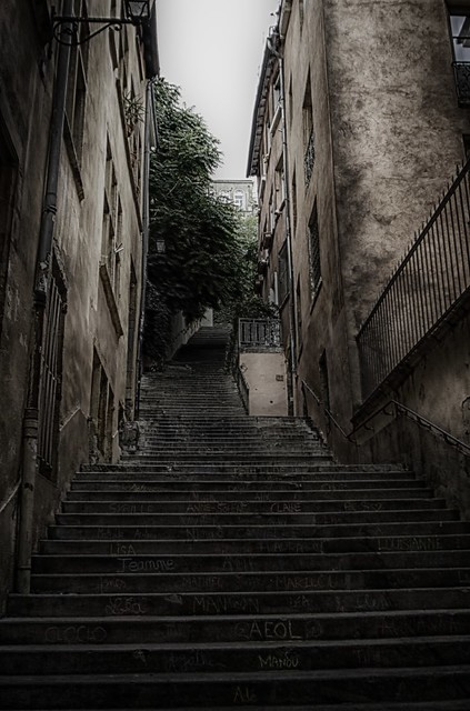 Lecture d'escalier