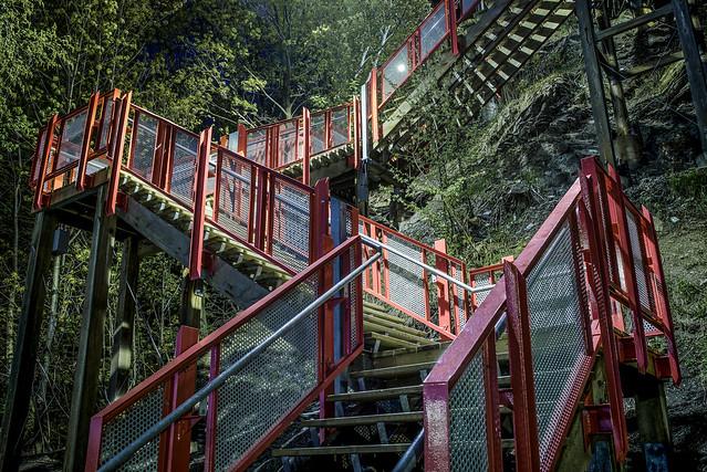 Escalier contrasté