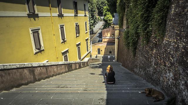 Escaliers à Rome