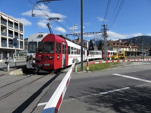 Trains des T.P.F  anciennement G.F.M. voie métrique (Suisse)
