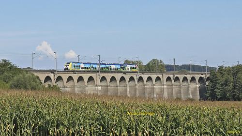 BGC 82509-10-Romilly- TER 830422 Mulhouse-Belfort à Dannemarie
