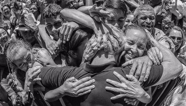 Apoiadores de Lula estão a caminho de Curitiba para saudar o ex-presidente - Créditos: Ricardo Stuckert/Fotos Públicas