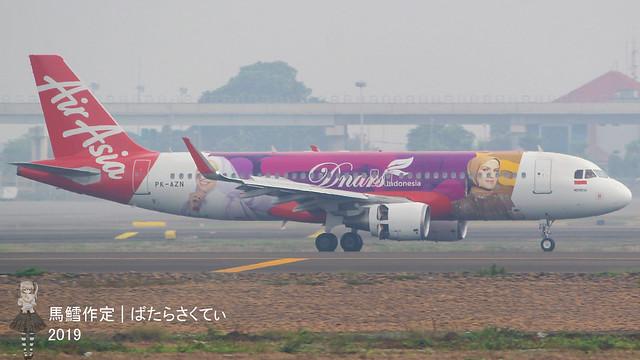 Indonesia AirAsia A320 Dnars Indonesia PK-AZN