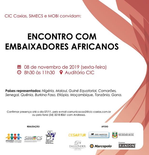 08/11/2019 Encontro com Embaixadores Africanos
