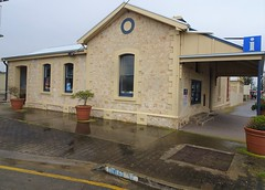 Stansbury Yorke Peninsula. The old Police Station with the cells still in the back yard. Built around 1880. in local limestone. Now the Information Office.
