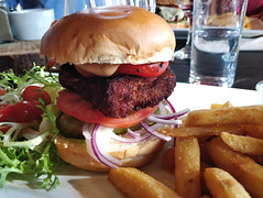 Halloumi burger at Cafe by the Lake