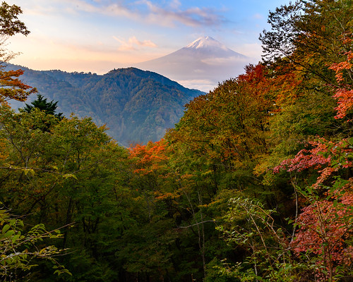 Misaka Fuji autumn scenery