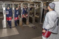 NY Rangers Ride the Subway