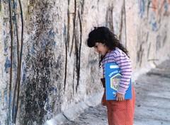 Berlin Wall and Roma girl