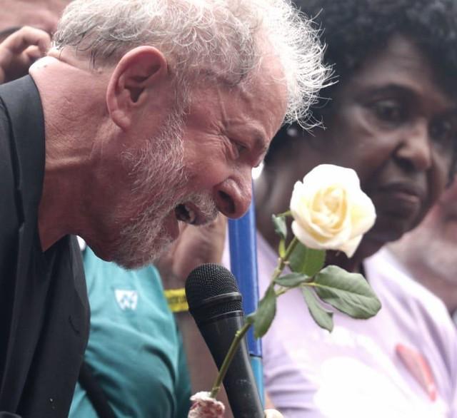 Lula no Sindicato do Metalurgicos do ABC. Foto: Reprodução