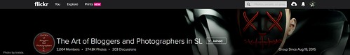 """The Art of Bloggers and Photographers in SL"" (Opted Out)"