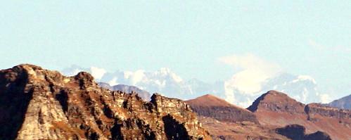 Near Passo Quadrella, Piz Bernina and Piz Roseg, 120 km away