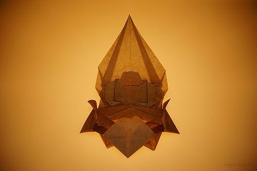 Origami Buddha on Lotus (Kunihiko Kasahara)
