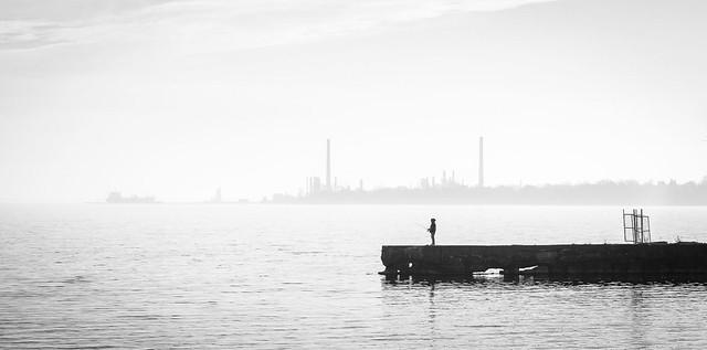 Pêcheur du soir, Lac Ontario
