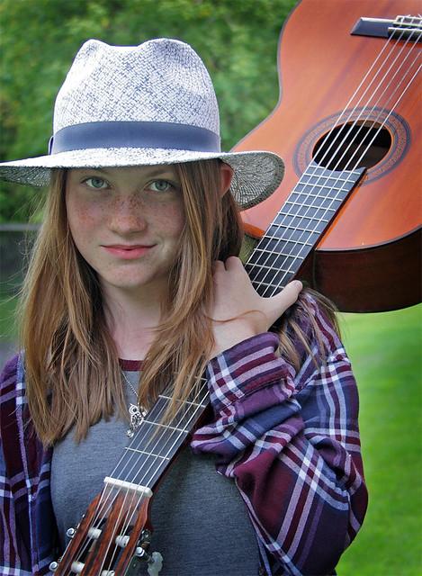Belle musicienne