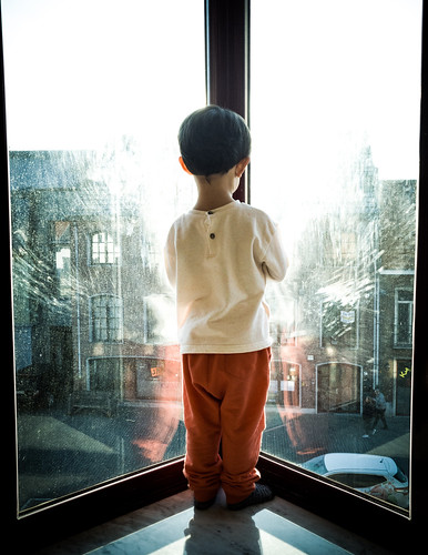 Son in Window - Color