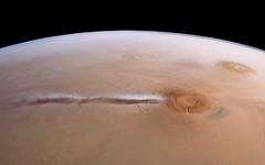 Arsia Mons Cloud - Mars Express