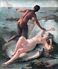 Fernand Le Quesne (1856-1932) - Les Deux Perles (1889) (colorized)