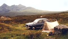 Renault 12 on the Isle of Skye