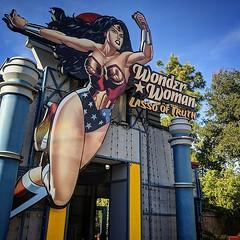 Wonder Woman #theride #wonder #woman #wonderwoman #lasso #dccomics #superhero #sixflags #magicmountain #bees