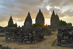 Sunset at Prambanan