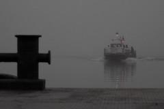 Dock in the fog