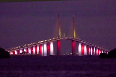 Veterans Day Night, Sunshine Skyway Bridge