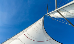 Sailing yacht in the sea. Cruise from Thailand to Malaysia