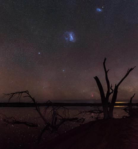 Magellanic Clouds at Yenyening Lakes, Western Australia