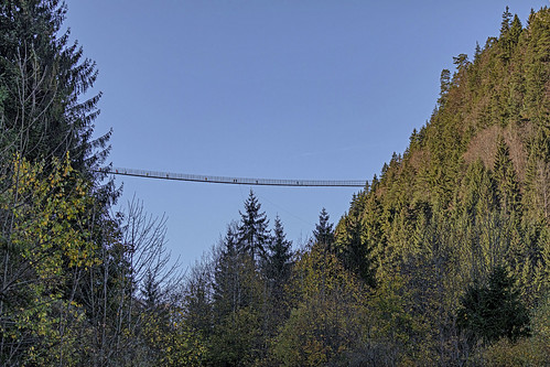 Holzgau Suspension Bridge. The highest and longest freely accessible pedestrian suspension bridge in Austria!!!