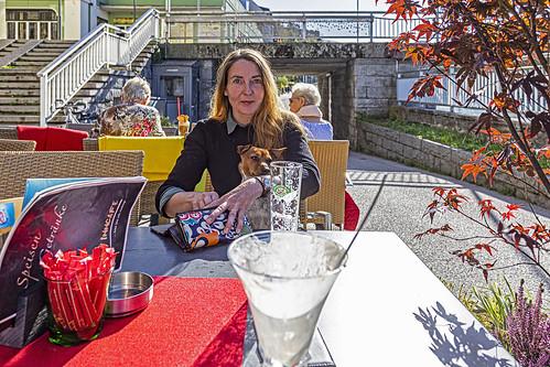 Ice-cream & beer, Kufstein, Tyrol.