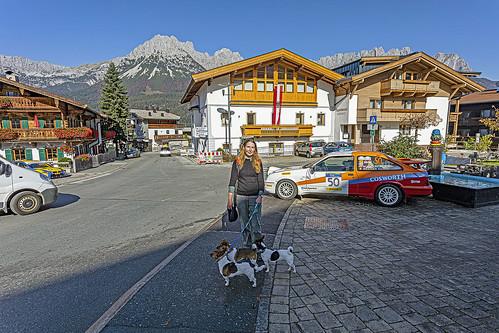 Sal & the dogs, Ellmau, Tyrol Austria.