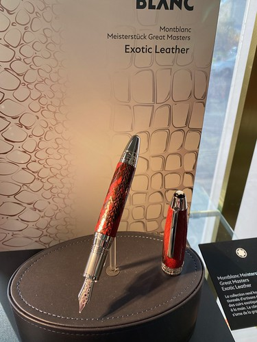 Great Masters Exotic Leather Python Fountain Pen