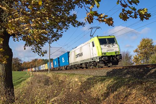 Muessen Feldweg Captrain 185 650-9 Container