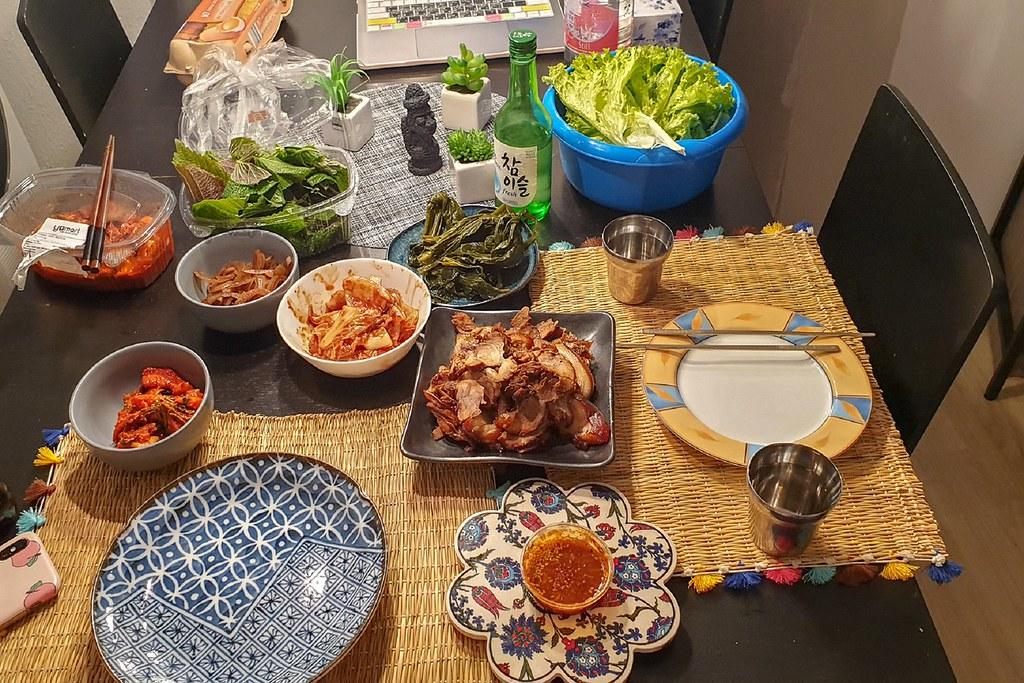 Jokbal und viele Beilagen - Mein Abendtisch