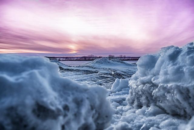 Coucher de soleil nordique