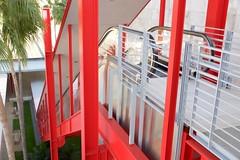 Escalator, garden,  LA County Art MuseumDSC_0072