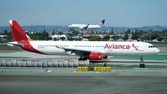 Avianca Airbus A321 N568TA taxiing, north side runways DSC_0353