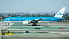 "KLM Boeing 777 -200 (ER) PH-BQG ""Galapagos Islands"" starts takeoff roll LAX 24L DSC_0514 (1)"