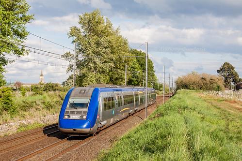 22 avril 2014 z 21567 Train 866782 Langon -> Bordeaux-St-Jean Portets (33)